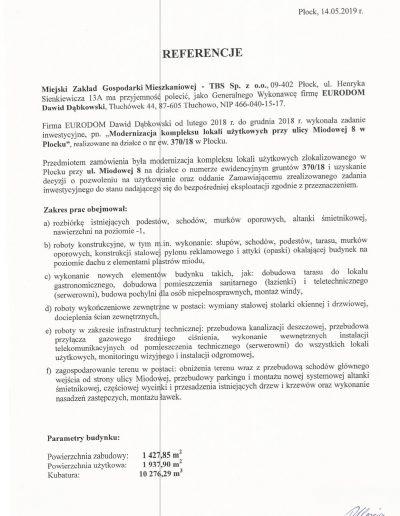 Referencja Miodowa-1