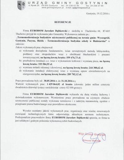 Referencje Białotarsk