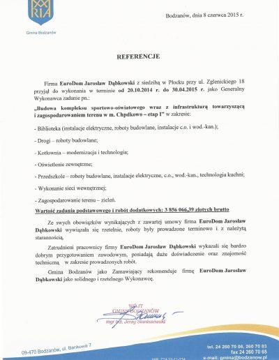 Referencje Bodzanów