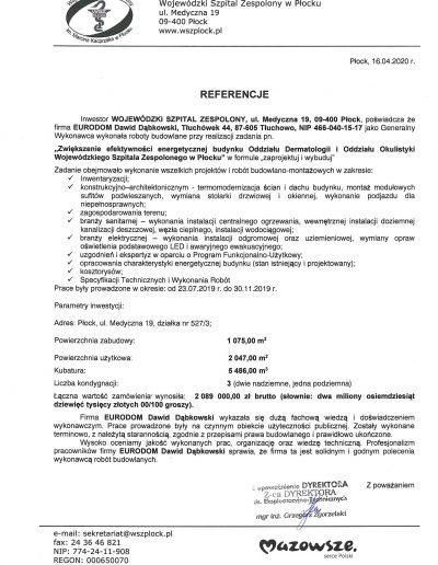 Referencje okulistyka i dermatologia Płock