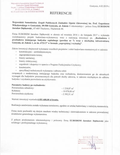 referencje Eurodom Zalesie-1